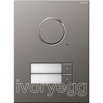 Stainless Steel Audio Door Station - 2 Call Buttons