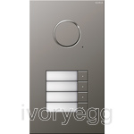 Stainless Steel Audio Door Station - 4 Call Buttons