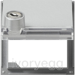 Adapter frame HC inscription space lockable Gira TX_44 (WP FM) Colour Aluminium