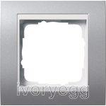 Cover frame, 1-gang for pure white Gira Event Colour Aluminium