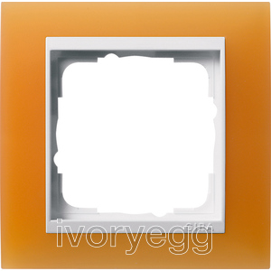 Cover frame, 1-gang for pure white Gira Event Opaque orange