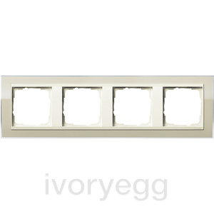 Cover frame, 4-gang for cream white Gira Event Clear sand