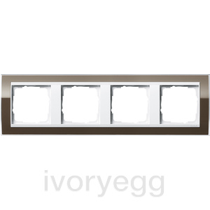 Cover frame, 4-gang for pure white Gira Event Clear Brown