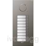 Stainless Steel Audio Door Station - 9 Call Buttons