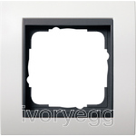 Cover frame, 1-gang for anthracite Gira Event pure white