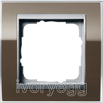 Cover frame, 1-gang frame  Colour Aluminium Gira Event Clear Brown