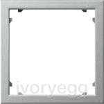 Adapter frame 45x45 square System 55 Colour Aluminium