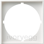Adapter frame 50x50 round System 55 pure white matt