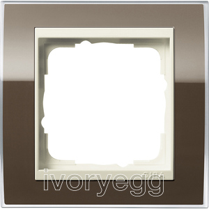 Cover frame, 1-gang for cream white Gira Event Clear Brown