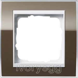Cover frame, 1-gang for pure white Gira Event Clear Brown