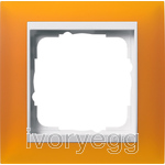 Cover frame, 1-gang for pure white Gira Event Opaque amber