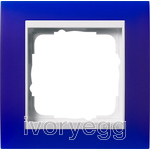 Cover frame, 1-gang for pure white Gira Event Opaque blue
