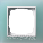 Cover frame, 1-gang for pure white Gira Event Opaque mint