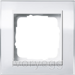 Cover frame, 1-gang for pure white Gira Event Clear white