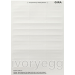 Inscription sheets 11.7x66.3mm Accessories pure white
