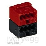 Connector; For KNX applications Red/Black (Box of 50)