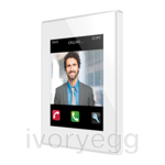 Z41  COM. Color capacitive touch panel with video intercom. PC-ABS frame - White
