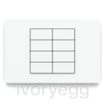 20venti series, 8-fold KNX pushbutton, rectangular, white plate and rockers