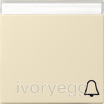 Rocker symbol bell + inscription space System 55 cream white