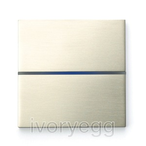 Sentido front - dual - brushed nickel