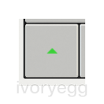 20venti series, Single square 15x15mm rocker (dimmer) with engraved symbol, Metallic grey