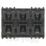 KNX pushbutton 3 modules with 6 buttons