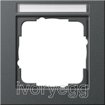 Cover frame 1-gang IS Gira E2 Anthracite