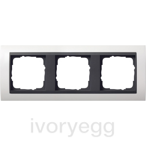 Cover frame, 3-gang for anthracite Gira Event pure white