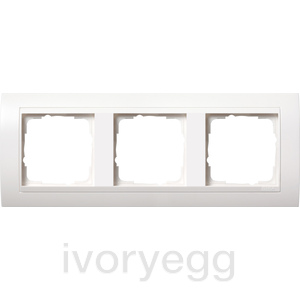 Cover frame, 3-gang for pure white Gira Event pure white