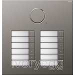 Stainless Steel Audio Door Station - 12 Call Buttons