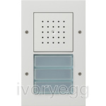 Surface Mounted Door Station - 3 Call Buttons, Audio TX44 Pure White