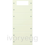 Rocker set 5-gang Plus System 55 Cream white(lacquered)