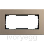 Cover frame 2g w/o cb Gira Esprit Linoleum-plywood light brown