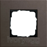 Frame 1-gang Gira Esprit Linoleum-plywood dark brown