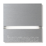 Via Walkway Light Front - brushed aluminium