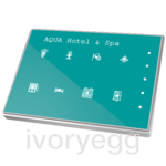 Capacitive push button Touch-MyDesign - 8 Buttons & Thermostat. Aluminium frame - Custom