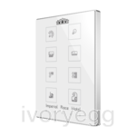Capacitive push button Touch-MyDesign - 8 Buttons & Thermostat. PC-ABS frame - Custom