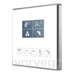 Capacitive touch panel 5 buttons & graphical display with thermostat.