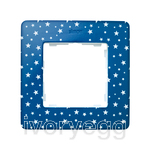 FRAME, 1 ELEM. STARS on indigo blue