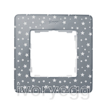FRAME, 1 ELEM. STARS on steel grey