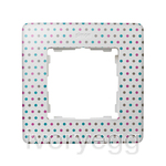 FRAME, 1 ELEM. POLKA DOTS on white