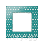 FRAME, 1 ELEM. POLKA DOTS on aquamarine