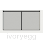 20venti series, Pack of 2 square 15x15mm rockers (dimmer), Metallic Grey