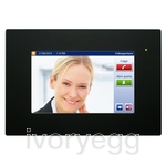 "HC2-KNX 7"" TOUCH PANEL, BLACK FRONT FRAME"