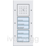 Door Station Surface Mounted with 2 Call-button 3-gang, TX44 Pure white