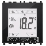 Vimar KNX touch-thermostat 2M black