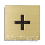 Eve plus – wall base cover – brushed brass