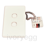 IVORY EGG MC-012 MechConnect - 2 x KNX pushbutton incl. mech and frame