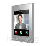 Z41  COM. Color capacitive touch panel with video intercom. PC-ABS frame - Silver