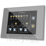 Z41 Pro. Color capacitive touch panel with IP connection. PC-ABS frame - Silver